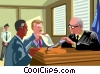 judge having a side bar with the lawyers Vector Clip Art image