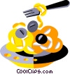 Vector Clip Art graphic  of a spaghetti and meat balls