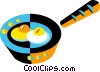 Vector Clipart graphic  of a eggs cooking in a frying pan