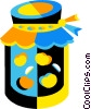 Vector Clip Art graphic  of a jar of preservers