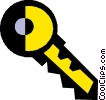 Vector Clip Art image  of a car key