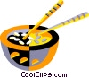 Vector Clip Art graphic  of a bowl of rice