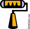 Vector Clip Art graphic  of a paint roller