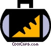 Vector Clip Art image  of a suitcases