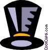 Vector Clip Art graphic  of a top hats