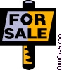 Vector Clip Art graphic  of a for sale signs