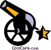 Vector Clipart picture  of a canons