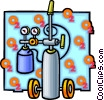 Vector Clipart graphic  of a Oxygen tank
