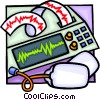 Electrocardiograms Vector Clipart illustration