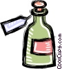 Vector Clipart picture  of a bottle
