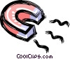 Vector Clipart picture  of a magnet