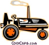 tractors Vector Clip Art graphic