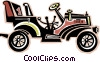 Vector Clip Art image  of an antique automobiles