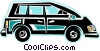 mini van Vector Clipart illustration