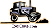 Vector Clip Art image  of a Steam roller