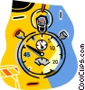 Vector Clip Art picture  of a stopwatches