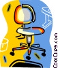 Vector Clip Art picture  of a office chair