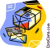 mail letters, packages, envelopes Vector Clip Art graphic