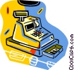 Vector Clipart image  of a cash register