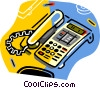 Vector Clip Art image  of a telephones
