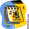 Vector Clipart illustration  of a calendar