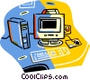 Vector Clipart illustration  of a computer system