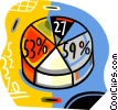 Vector Clipart picture  of a pie charts
