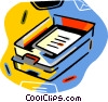 Vector Clip Art graphic  of a in and out box