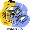 Vector Clip Art image  of a photo copy machine