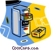 filing cabinet Vector Clipart graphic