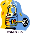 lock and key Vector Clip Art picture