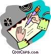 Vector Clipart graphic  of a writing a letter