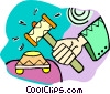 gavel Vector Clipart picture