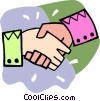 hand shake Vector Clip Art graphic