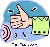 Vector Clip Art picture  of a thumbs up