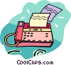 fax machine Vector Clipart image