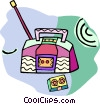 Vector Clipart graphic  of a ghetto blaster