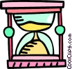 Vector Clipart image  of a hour glass