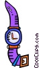 Vector Clip Art picture  of a wrist watch