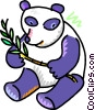 Vector Clipart picture  of a panda bear