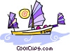 Vector Clipart illustration  of a Chinese sailboat
