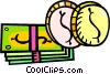 Vector Clipart graphic  of a money