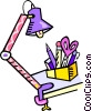 Vector Clipart graphic  of a desk lamp with drafting