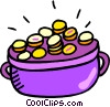 Vector Clipart picture  of a pot of gold