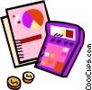 calculating your finances Vector Clip Art image