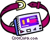 beeper on a belt Vector Clipart picture