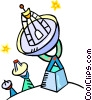 satellite dishes Vector Clip Art graphic