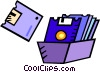 3.5 inch diskettes Vector Clip Art picture