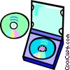 Vector Clipart illustration  of a CD rom