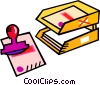 Vector Clipart graphic  of a in out box